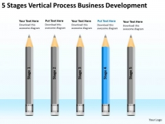 5 Stages Vertical Process Business Development Ppt Standard Plan PowerPoint Templates