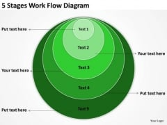 5 Stages Work Flow Diagram Business Plan PowerPoint Templates