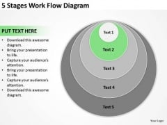 5 Stages Work Flow Diagram Market Plan Example PowerPoint Templates