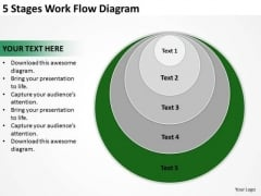 5 Stages Work Flow Diagram Ppt Business Plan PowerPoint Templates