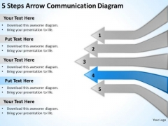 5 Steps Arrow Communication Diagram Hot To Write Business Plan PowerPoint Slides