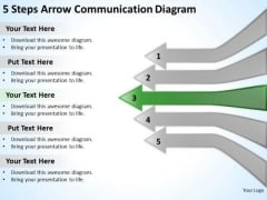 5 Steps Arrow Communication Diagram Startup Business Plan PowerPoint Templates