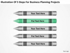 5 Steps For Business Planning Projects Ppt Format PowerPoint Templates