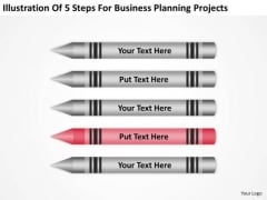 5 Steps For Business Planning Projects Ppt PowerPoint Slide