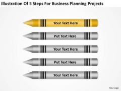 5 Steps For Business Planning Projects Ppt Strategy PowerPoint Templates