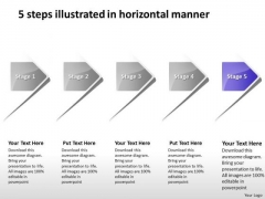 5 Steps Illustrated In Horizontal Manner Ppt Flow Chart Business PowerPoint Templates