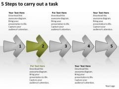 5 Steps To Carry Out Task Diagram Of Business Plan PowerPoint Slides
