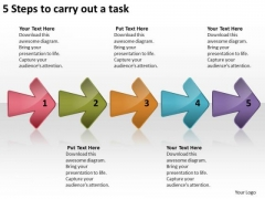 5 Steps To Carry Out Task Flow Charting PowerPoint Templates