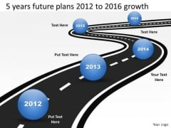 5 Years Future Plans 2012 To 2016 Growth PowerPoint Templates Ppt Slides Graphics