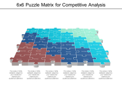 6X6 Puzzle Matrix For Competitive Analysis Ppt PowerPoint Presentation Infographic Template Format