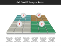 6X6 Swot Analysis Matrix Ppt PowerPoint Presentation Layouts Example File