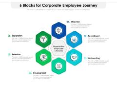 6 Blocks For Corporate Employee Journey Ppt PowerPoint Presentation Gallery Design Ideas PDF