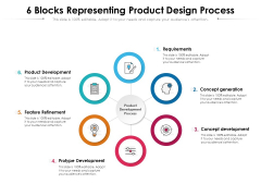 6 Blocks Representing Product Design Process Ppt PowerPoint Presentation Gallery Slides PDF