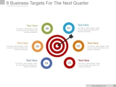 6 Business Targets For The Next Quarter Ppt PowerPoint Presentation Example 2015