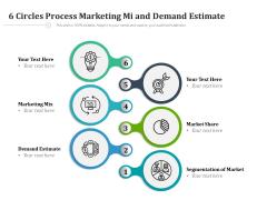 6 Circles Process Marketing Mi And Demand Estimate Ppt PowerPoint Presentation Icon Slides PDF