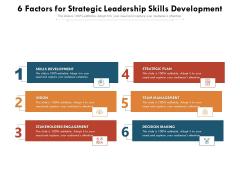 6 Factors For Strategic Leadership Skills Development Ppt PowerPoint Presentation Gallery Show PDF