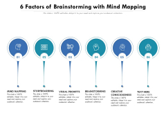 6 Factors Of Brainstorming With Mind Mapping Ppt PowerPoint Presentation Gallery Structure PDF