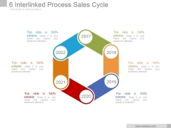 6 Interlinked Process Sales Cycle Ppt PowerPoint Presentation Backgrounds