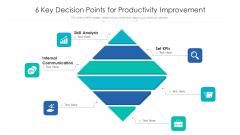 6 Key Decision Points For Productivity Improvement Ppt PowerPoint Presentation File Show PDF