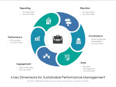 6 Key Dimensions For Sustainable Performance Management Ppt PowerPoint Presentation File Structure PDF
