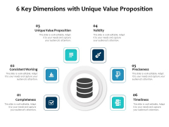 6 Key Dimensions With Unique Value Proposition Ppt PowerPoint Presentation Gallery Files PDF
