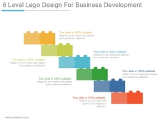 6 Level Lego Design For Business Development Ppt PowerPoint Presentation Images