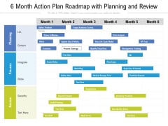 6 Month Action Plan Roadmap With Planning And Review Demonstration