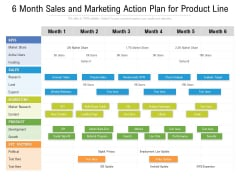 6 Month Sales And Marketing Action Plan For Product Line Background