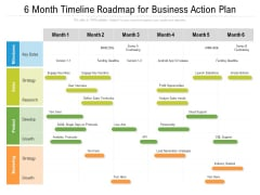 6 Month Timeline Roadmap For Business Action Plan Topics