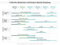 6 Months Blockchain Certification Module Roadmap Demonstration