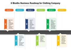 6 Months Business Roadmap For Clothing Company Inspiration