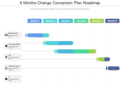 6 Months Change Conversion Plan Roadmap Structure