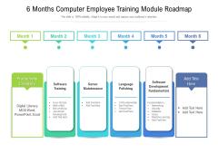 6 Months Computer Employee Training Module Roadmap Summary