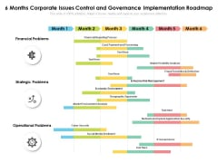 6 Months Corporate Issues Control And Governance Implementation Roadmap Formats