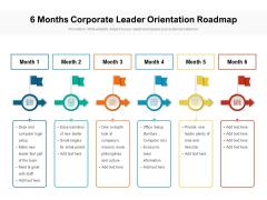 6 Months Corporate Leader Orientation Roadmap Download