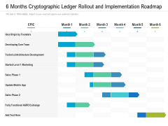 6 Months Cryptographic Ledger Rollout And Implementation Roadmap Rules