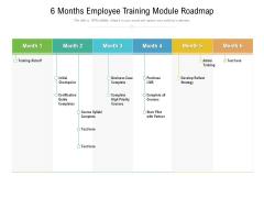 6 Months Employee Training Module Roadmap Download