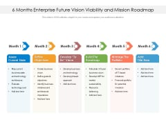 6 Months Enterprise Future Vision Viability And Mission Roadmap Template