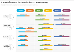 6 Months Features Roadmap For Product Manufacturing Themes
