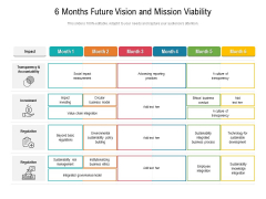 6 Months Future Vision And Mission Viability Pictures