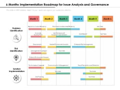 6 Months Implementation Roadmap For Issue Analysis And Governance Diagrams