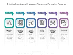 6 Months Organizational Investment Planning And Forecasting Roadmap Sample