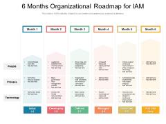 6 Months Organizational Roadmap For IAM Themes