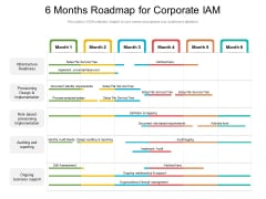 6 Months Roadmap For Corporate IAM Pictures