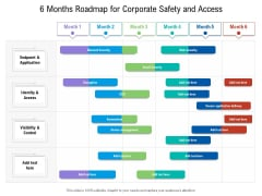 6 Months Roadmap For Corporate Safety And Access Demonstration