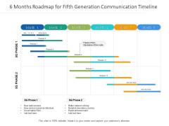 6 Months Roadmap For Fifth Generation Communication Timeline Mockup