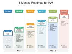 6 Months Roadmap For IAM Slides