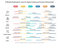 6 Months Roadmap For Lean Six Sigma Continuous Process Enhancement Download