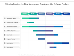 6 Months Roadmap For New Management Development For Software Products Portrait