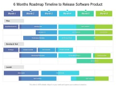 6 Months Roadmap Timeline To Release Software Product Pictures